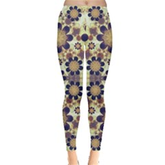 Modern Fancy Baroque Print Leggings