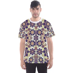 Modern Fancy Baroque Print Men s Sport Mesh Tee