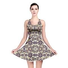 Modern Fancy Baroque Print Reversible Skater Dress