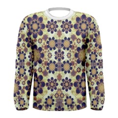 Modern Fancy Baroque Print Long Sleeve T Shirt (men)