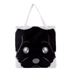 Affenpinscher Cartoon 2 Sided Head Grocery Tote Bag