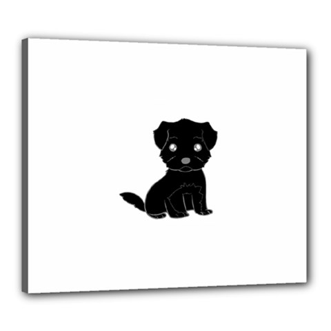 Affenpinscher Cartoon Canvas 24  x 20  (Framed)