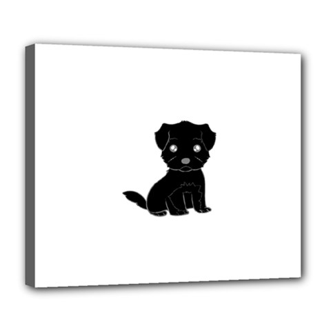 Affenpinscher Cartoon Deluxe Canvas 24  x 20  (Framed)