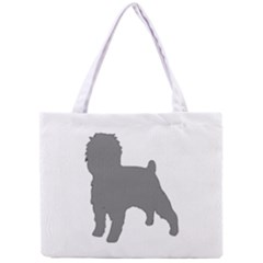 Affenpinscher Color Grey Silo Tiny Tote Bag
