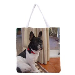 Sitting 3 French Bulldog Grocery Tote Bag