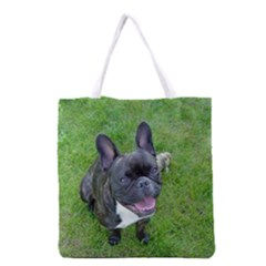 Sitting 2 French Bulldog Grocery Tote Bag