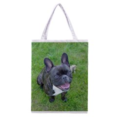 Sitting 2 French Bulldog Classic Tote Bag