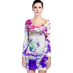 Officially Sexy Candy Collection Purple Long Sleeve Bodycon Dress