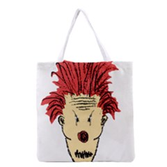 Evil Clown Hand Draw Illustration Grocery Tote Bag