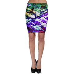 Officially Sexy Purple Floating Hearts Collection Bodycon Skirt