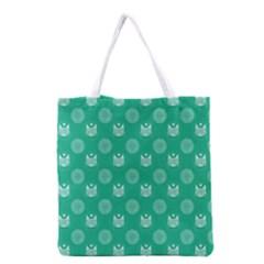 Soggykitten Floralpattern Grocery Tote Bag