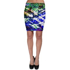 Officially Sexy Floating Hearts Collection Blue Bodycon Skirt