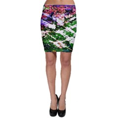 Officially Sexy Floating Hearts Collection Green Bodycon Skirt