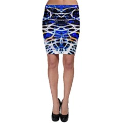 Officially Sexy Panther Collection Blue Bodycon Skirt