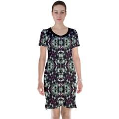 Geometric Grunge Print Short Sleeve Nightdress