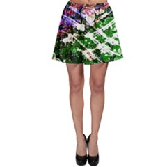 Officially Sexy Floating Hearts Collection Green Skater Skirt