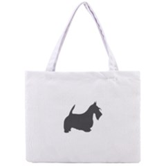 Scottish Terrier Dk Grey Silhouette Tiny Tote Bag