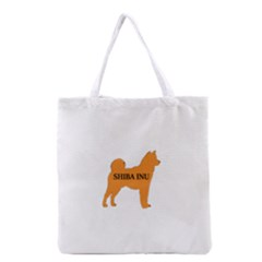 Shiba Inu Name Silo Color Grocery Tote Bag