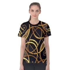 Futuristic Ornament Print Women s Cotton Tee