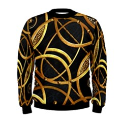 Futuristic Ornament Print Men s Sweatshirt