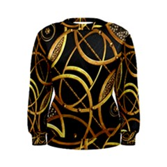 Futuristic Ornament Print Women s Sweatshirt