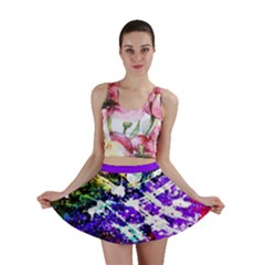 Officially Sexy Floating Hearts Collection Purple Mini Skirt