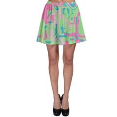 Pastel chaos Skater Skirt