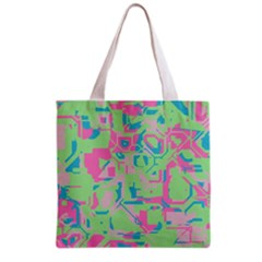 Pastel chaos Grocery Tote Bag