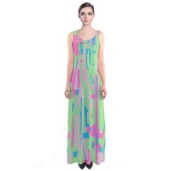 Pastel chaos Full Print Maxi Dress