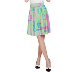 Pastel Chaos A Line Skirt