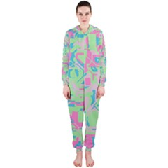 Pastel chaos Hooded OnePiece Jumpsuit