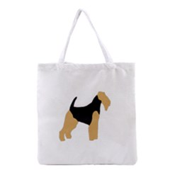 Welsh Terrier Silo Color Grocery Tote Bag
