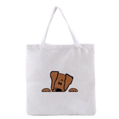 Peeping Vizsla Grocery Tote Bag