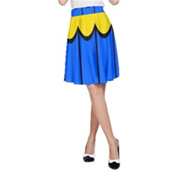Colorful curtain A-line Skirt