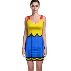 Colorful Curtain Bodycon Dress