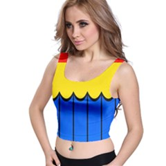 Colorful Curtain Crop Top