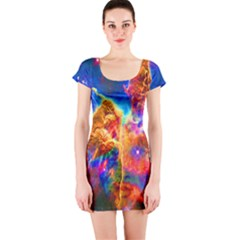 Cosmic Mind Short Sleeve Bodycon Dress