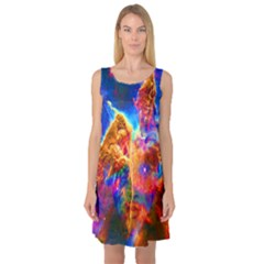 Cosmic Mind Sleeveless Satin Nightdress
