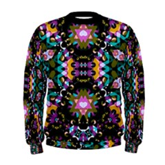 Digital Futuristic Geometric Print Men s Sweatshirt