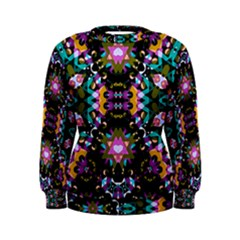 Digital Futuristic Geometric Print Women s Sweatshirt