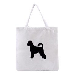 Portugese Water Dog Silhouette Grocery Tote Bag