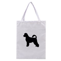 Portugese Water Dog Silhouette Classic Tote Bag