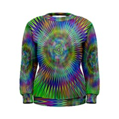 Hypnotic Star Burst Fractal Women s Sweatshirt