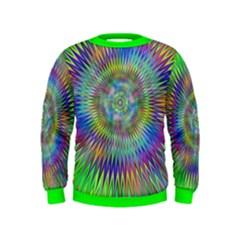 Hypnotic Star Burst Fractal Kids Sweatshirts
