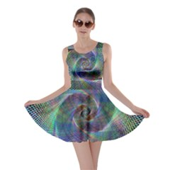 Psychedelic Spiral Skater Dress