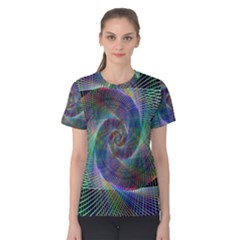 Psychedelic Spiral Women s Cotton Tee