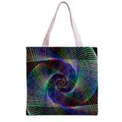 Psychedelic Spiral Grocery Tote Bag