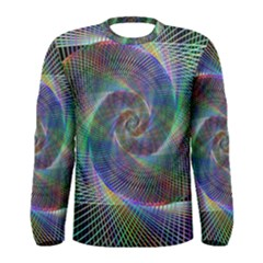 Psychedelic Spiral Long Sleeve T-shirt (Men)