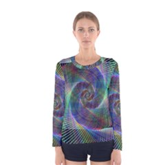 Psychedelic Spiral Long Sleeve T-shirt (Women)