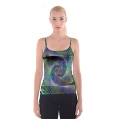 Psychedelic Spiral Spaghetti Strap Top